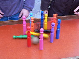Skittles (sport) - A variety of table skittles