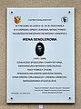 Tablica Irena Sendlerowa ul. Siedzibna 25 w Warszawie.jpg