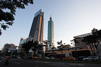 Taipei Nan Shan Plaza and Taipei 101 view from Songren Road 20170715.jpg