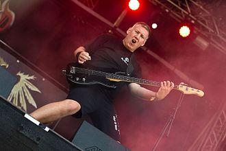 Tankard (band) - Bassist Frank Thorwarth at Rockharz 2016