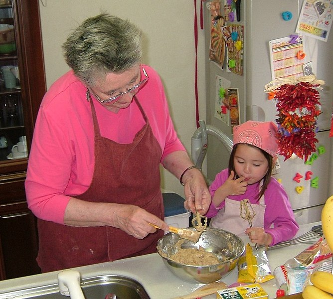 File:Taste-testing the cookie dough with Grandm.jpg