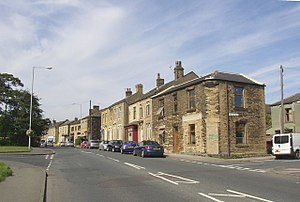 Gomersal - Image: Terrace houses, Oxford Road, Gomersal geograph.org.uk 548657