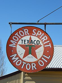 Texaco advertising, Gippsland Motor Garage, Old Gippstown.JPG