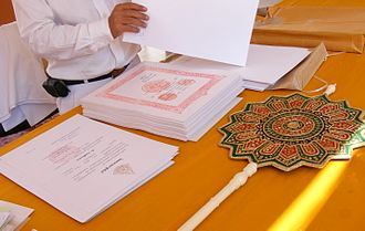 Ecclesiastical peerage of Thailand - Letters of appointment and a fan of rank for ecclesiastical peers.