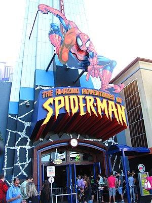 Universal Creative - Entrance to The Amazing Adventures of Spider-Man at Marvel Super Hero Island at Islands of Adventure