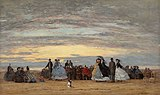 The Beach at Villerville, Eugene Boudin, 1864.jpg