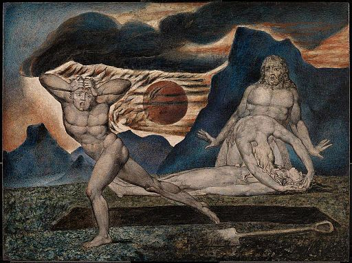 The Body of Abel Found by Adam and Eve by William Blake c1826 Tate