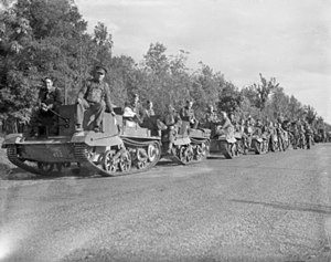 British Expeditionary Force (World War II) - Bren carriers of the 13th/18th Royal Hussars during an exercise near Vimy, 11 October 1939.