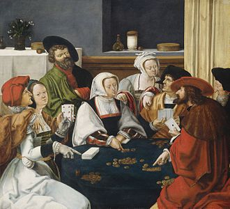 Primero - The Card Players (1508-1510) by Lucas van Leyden