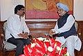 The Chief Minister of Jharkhand, Shri Hemant Soren calling on the Prime Minister, Dr. Manmohan Singh, in New Delhi on July 22, 2013.jpg