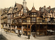 The Cross and Rows, Chester, Cheshire, England, ca. 1895