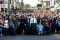 The First Family joined others in beginning the walk across the Edmund Pettus Bridge, 2015.jpg