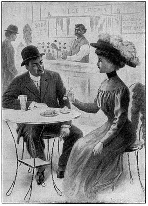 "Mann Act - ""Ice cream parlors of the city and fruit stores combined, largely run by foreigners, are the places where scores of girls have taken their first step downward. Does her mother know the character of the place and the man she is with?"""