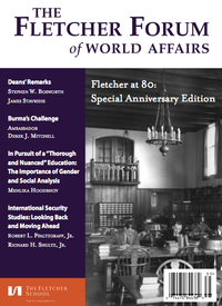 The Fletcher Forum Forum of World Affairs - Academic Journal - Vol 37 Issue 3 - front cover.png