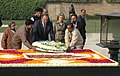 The Greece Prime Minister, Mr. Kostas Karamanlis laying wreath at the Samadhi of Mahatma Gandhi at Rajghat, in Delhi on January 11, 2008.jpg