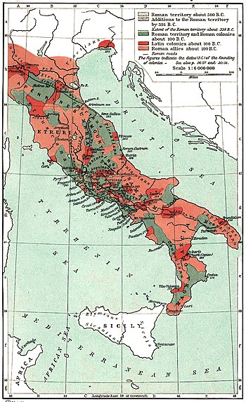 The Growth of Roman Power in Italy.