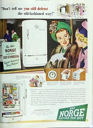 Norge (appliance manufacturer) - 1948 ad for Norge refrigerators.