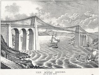 The Menai Bridge: (over the Menai Straits)
