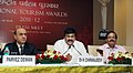 The Minister of State (Independent Charge) for Tourism, Dr. K. Chiranjeevi addressing a press conference on the National Tourism Awards, in New Delhi on March 12, 2013. The Tourism Secretary, Shri Parvez Dewan is also seen.jpg