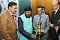 The Minister of State for Social Justice & Empowerment, Shri Ramdas Athawale lighting the lamp at the Achievers' Awards presentation ceremony, in New Delhi on February 06, 2017.jpg