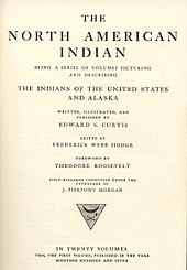 cover page of The North American Indian, published in 1907