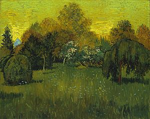 A Lane in the Public Garden at Arles - Image: The Poet's Garden 1888 Vincent van Gogh