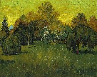 A Lane in the Public Garden at Arles - Image: The Poet's Garden 1888 Vincent van Gogh