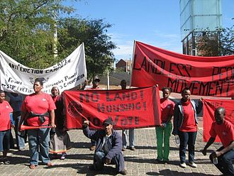 No Land! No House! No Vote! - Protesters outside the Constitutional Court in 2009