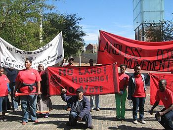 Members of the Poor People's Alliance Outside the Constitutional Court, 14 May 2009