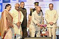 The President, Shri Pranab Mukherjee lighting the lamp at the inauguration of the Mahila Dakshata Samiti and Bansilal Malani College of Nursing, at Chanda Nagar, in Hyderabad.jpg
