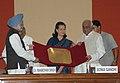 The Prime Minister, Dr. Manmohan Singh presenting the 23rd Indira Gandhi Award for National Integration to the Kasturba Gandhi National Memorial Trust, Indore, in New Delhi on October 31, 2008.jpg