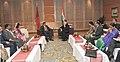 The Prime Minister, Shri Narendra Modi meeting the President of Maldives, Mr. Abdulla Yameen, at the 18th SAARC Summit, in Kathmandu, Nepal on November 26, 2014 (2).jpg