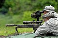 The Trinidad and Tobago Special Operations Sniper Team display their skills at Fuerzas Comando 2011.jpg