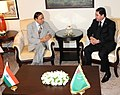 The Union Minister of Petroleum and Natural Gas, Shri Murli Deora with the President of Turkmenistan, Mr. Gurbanguly Berdimuhamedov, in New Delhi on May 25, 2010.jpg