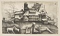 The old shepherd lying in a landscape, buildings behind, a goat and a sheep to the left MET DP813972.jpg