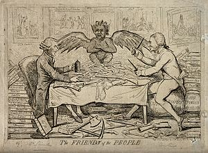 Society of the Friends of the People - Caricature of Republican Solidarity, by Isaac Cruikshank 1792
