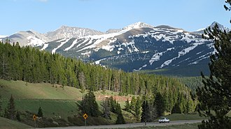 Vail, Colorado - Vail Pass is one of Colorado's mountain passes located in the Rocky Mountains.