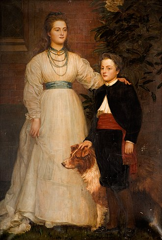 Charles Vane-Tempest-Stewart, 6th Marquess of Londonderry - Portrait of Lady Theresa Talbot with her brother Charles