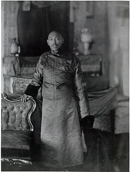 The 13th Dalai Lama in 1910 in Darjeeling, India Thirteenth Dalai Lama Thubten Gyatso.jpg