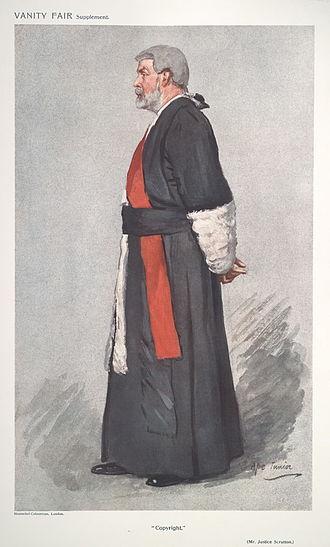 Thomas Edward Scrutton - Copyright, Vanity Fair, 1911
