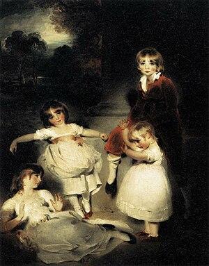 Ayscoghe Boucherett - The Children of Ayscoghe Boucherett by Thomas Lawrence, c. 1808