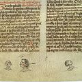 Three heads with wounds on nose, cheek & jaw, 14th C Wellcome L0037334.jpg
