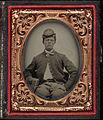 Three quarter portrait, young Civil War soldier in kepi. Cased tintype, ninth plate.jpg