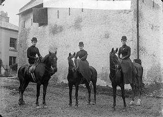 Three women on horseback (Leslie)