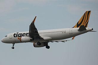 Tigerair - Tigerair A320-232 approaching Singapore Changi