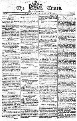 Titelseite vom 4. Dezember 1788