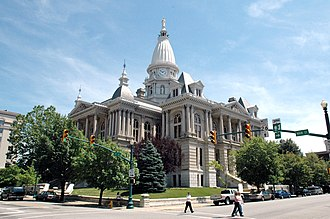 Tippecanoe County Courthouse - Southern and western sides of the courthouse