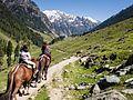 Tiya and Maya on Pony Trek from Aru to Lidderwat (14554827686).jpg