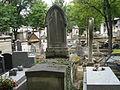 Tombe de Jean-Baptiste Lechantre, maître peintre de l'Académie de Saint-Luc, cimetière Montmartre.JPG