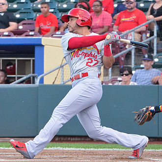 Pham playing for the Memphis Redbirds. Tommy Pham on August 11, 2015.jpg